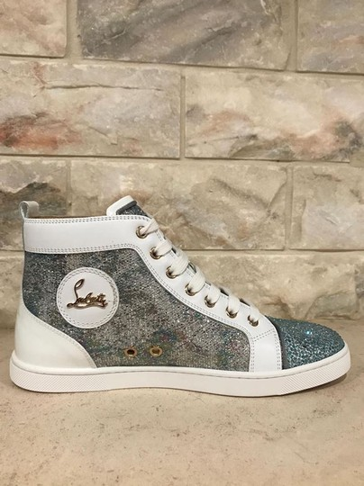 Christian Louboutin Bip Strass Crystal Sneaker Trainer white Athletic Image 9