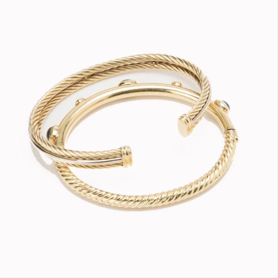 David yurman diamond cable bracelet set on tradesy for David yurman like bracelets