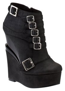 Michael Antonio Modern Artsy Sleek Black Wedges