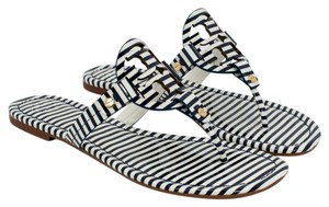 Tory Burch 37210 190041453627 NAUTICAL STRIPES SMALL NAVY SEA/WHITE Sandals