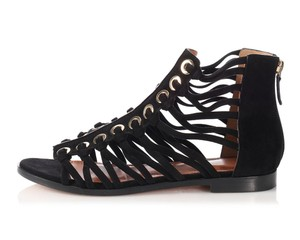 Givenchy Suede Cage Strappy Gv.l0801.23 Black Sandals