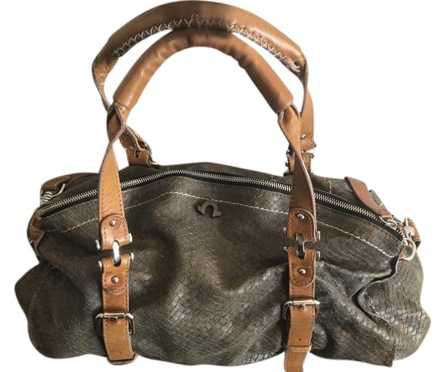 Item - Leyla Gray Python Embossed Leather Cross Body Bag