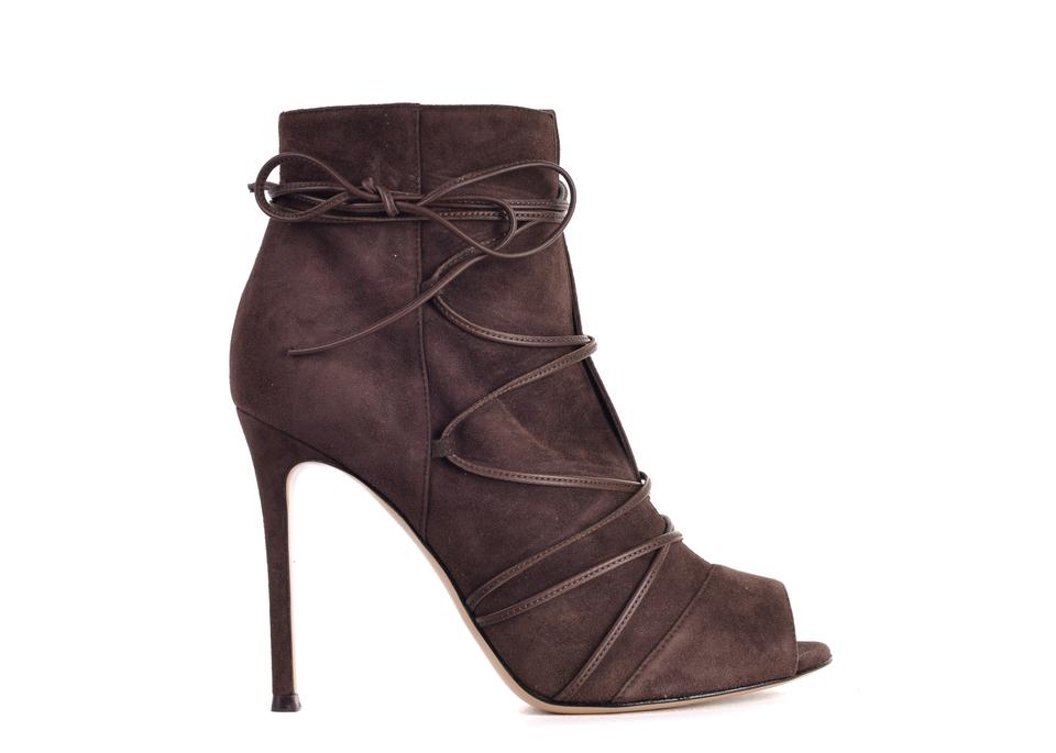 0ebab28fdb Gianvito Rossi Brown Womens Suede Ellie Ankle C3420 Boots/Booties ...