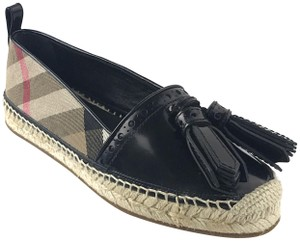 Burberry Espadrilles Leather Hodgeson Black Flats