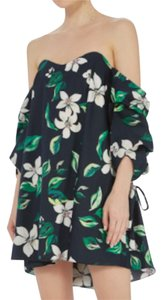 Caroline Constas Floral Off The Shoulder Pattern Dress