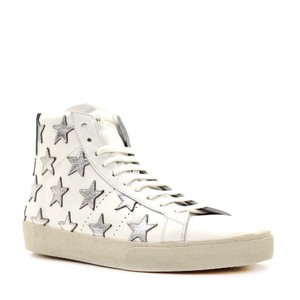 Saint Laurent Classic Court High Top Sneaker White Athletic
