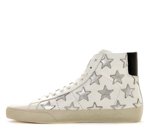 Saint Laurent Classic Court High Top Sneaker White Athletic Image 2
