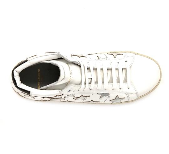 Saint Laurent Classic Court High Top Sneaker White Athletic Image 5