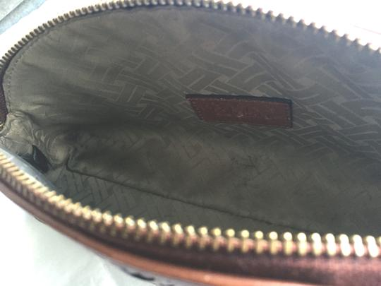 Cole Haan Leather Mahagony Clutch Image 6
