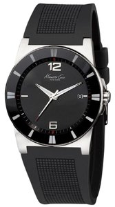 Kenneth Cole KC1831 Men's Black Rubber Band With Black Analog Dial Watch