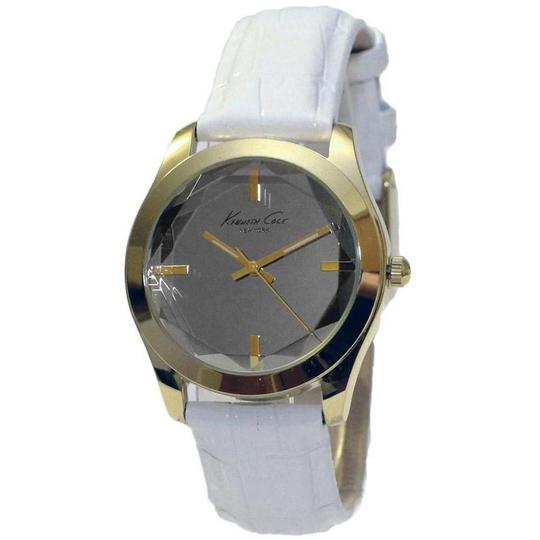 Kenneth Cole KCW2001 Women's White Leather Band With Silver Analog Dial Watch Image 1