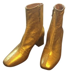Brother Vellies Leather Gold Boots