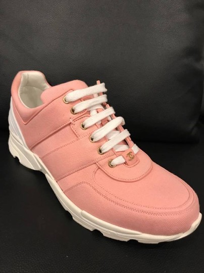Chanel Trainer Runner Sneaker Flat Classic pink Athletic Image 4