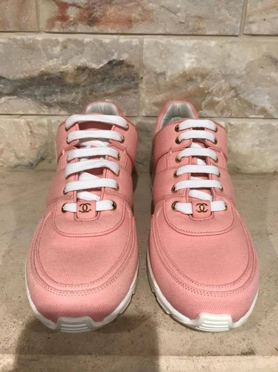 Chanel Trainer Runner Sneaker Flat Classic pink Athletic Image 6