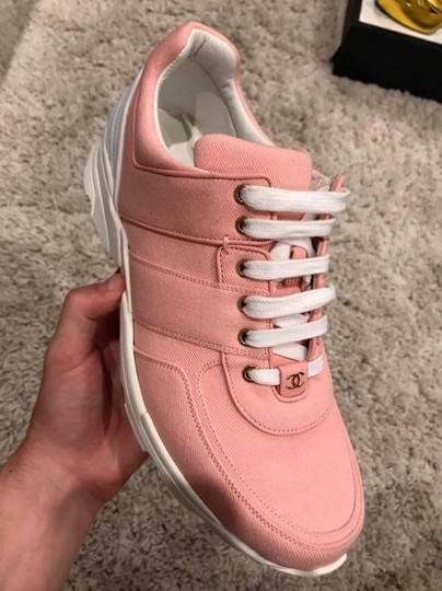 Chanel Trainer Runner Sneaker Flat Classic pink Athletic Image 7