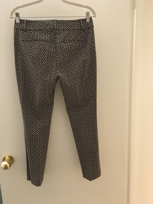 Ann Taylor LOFT Flattering New Tags Straight Pants Dark Brown with small white print Image 10