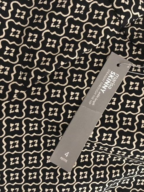 Ann Taylor LOFT Flattering New Tags Straight Pants Dark Brown with small white print Image 11