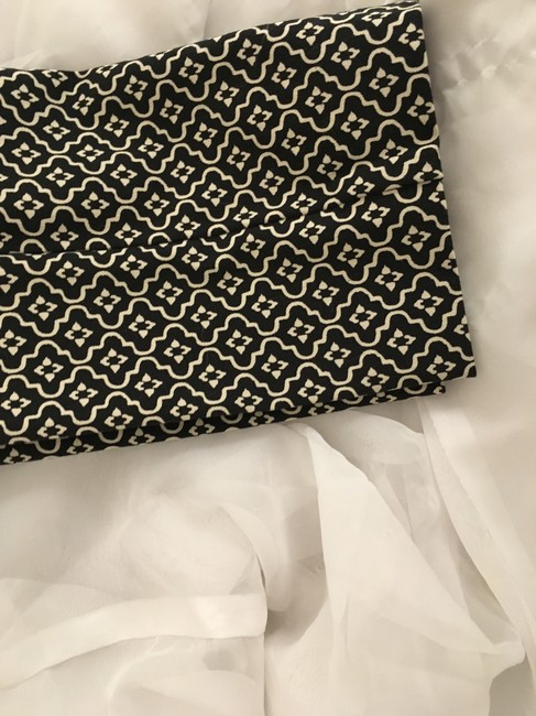 Ann Taylor LOFT Flattering New Tags Straight Pants Dark Brown with small white print Image 2