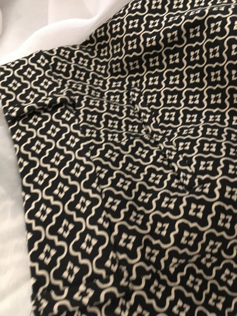 Ann Taylor LOFT Flattering New Tags Straight Pants Dark Brown with small white print Image 3