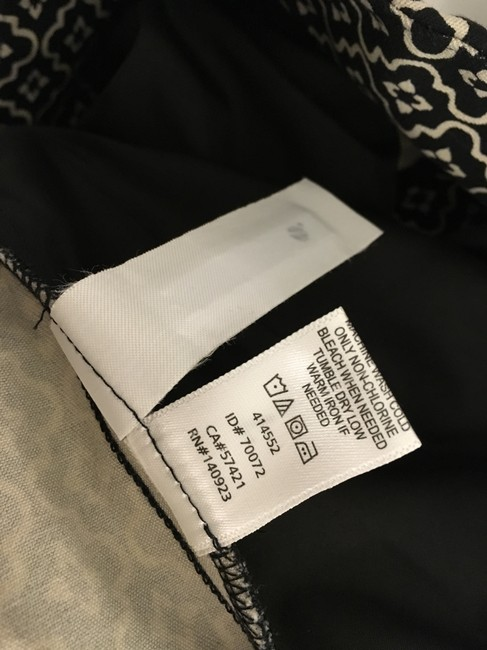 Ann Taylor LOFT Flattering New Tags Straight Pants Dark Brown with small white print Image 5