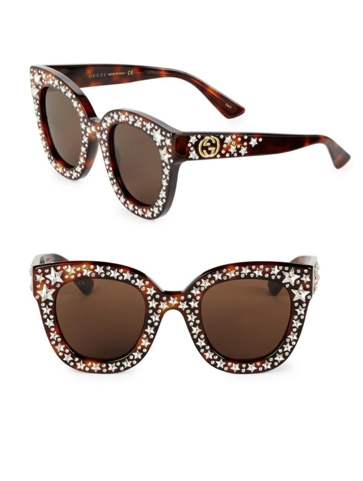 ae6c94c4fc5 Gucci Tortoise Shell Acetate Cat Eye with Stars Sunglasses - Tradesy