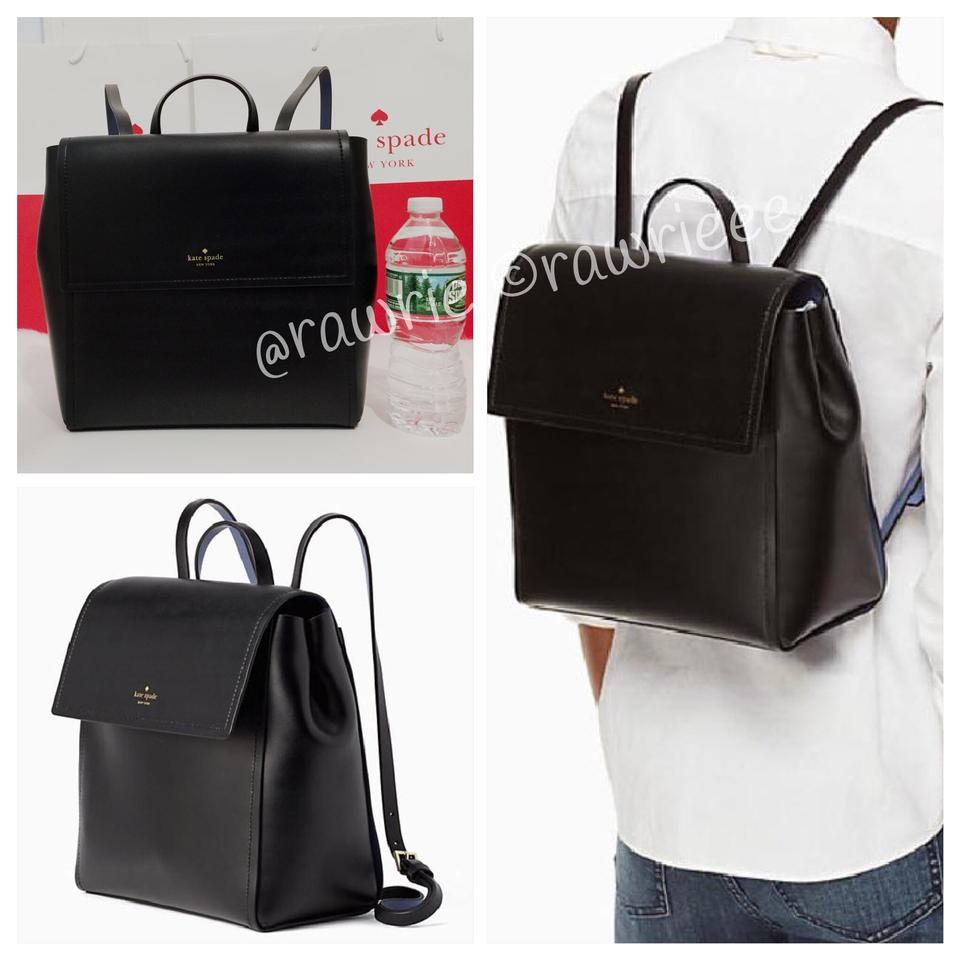bead1a8d0 Kate Spade Somerville Road Megyn Black Leather Backpack - Tradesy