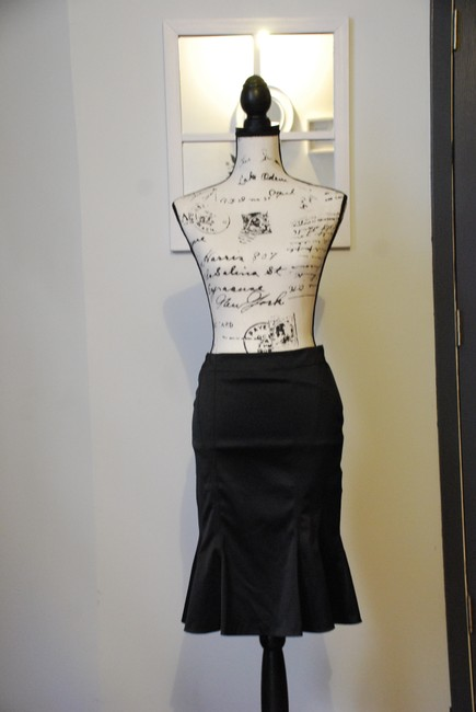 Divided by H&M Vintage Pencil Sexy Romantic Skirt Black Image 3