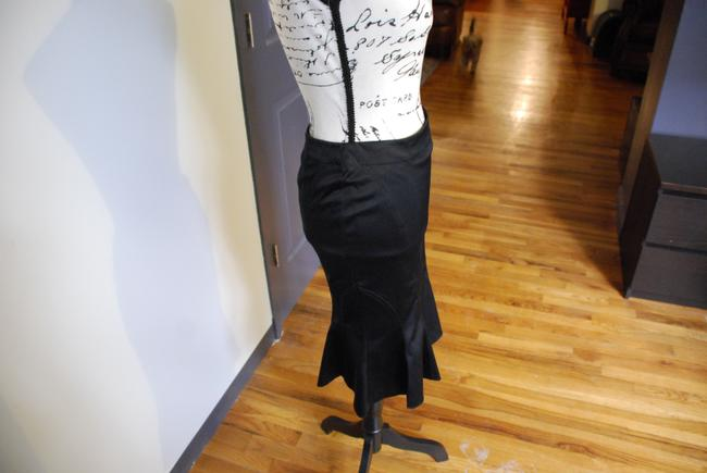Divided by H&M Vintage Pencil Sexy Romantic Skirt Black Image 6