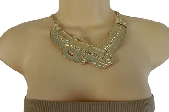 alwaystyle4you Women-Gold-Metal-Chain-Weekend-Fashion-Necklace-Big-Belt-Buckle-Charm Image 1