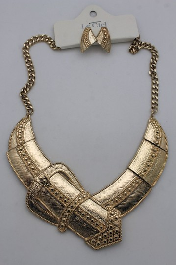 alwaystyle4you Women-Gold-Metal-Chain-Weekend-Fashion-Necklace-Big-Belt-Buckle-Charm Image 3