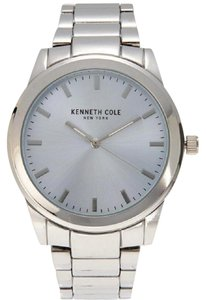 Kenneth Cole 10026504 Men's Silver Steel Band With Silver Analog Dial Watch