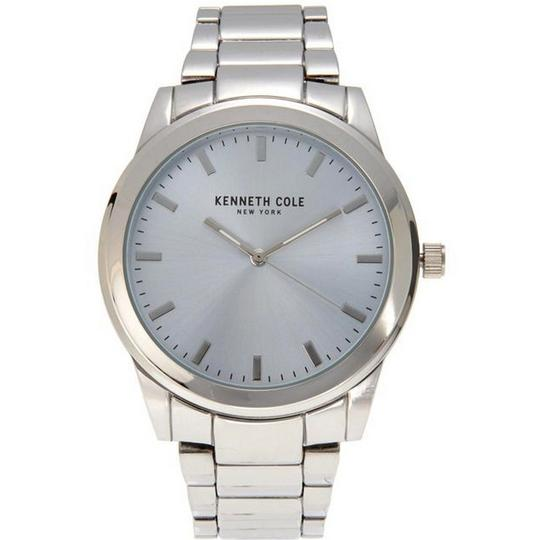 Kenneth Cole 10026504 Men's Silver Steel Band With Silver Analog Dial Watch Image 1