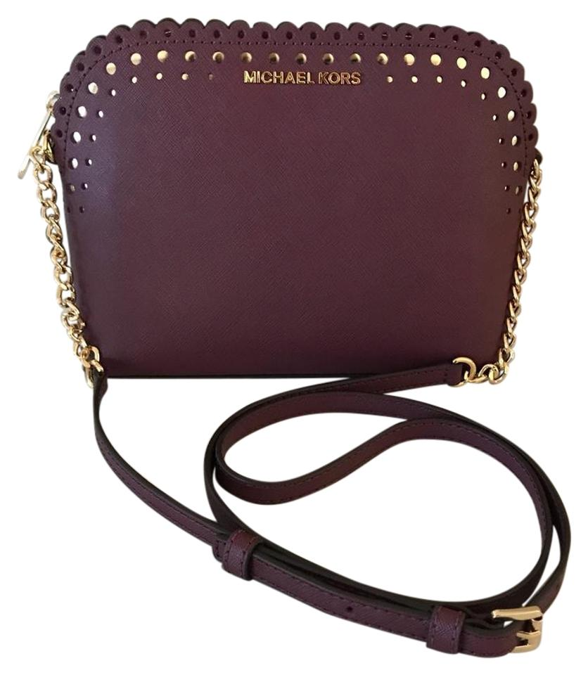 a6350ad9aa5b Michael Kors Violet Cindy Dome Cross Body Bag - Tradesy
