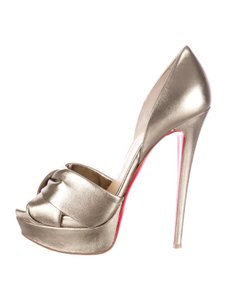 Christian Louboutin D'orsay D'orsay High Heel Silver/Metalic Sandals