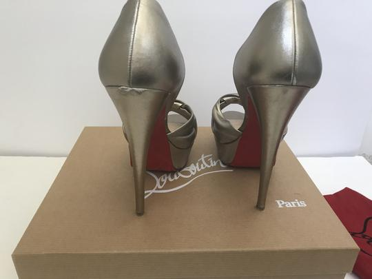 Christian Louboutin D'orsay D'orsay High Heel Silver/Metalic Sandals Image 1