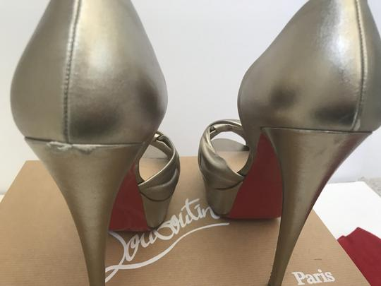 Christian Louboutin D'orsay D'orsay High Heel Silver/Metalic Sandals Image 3