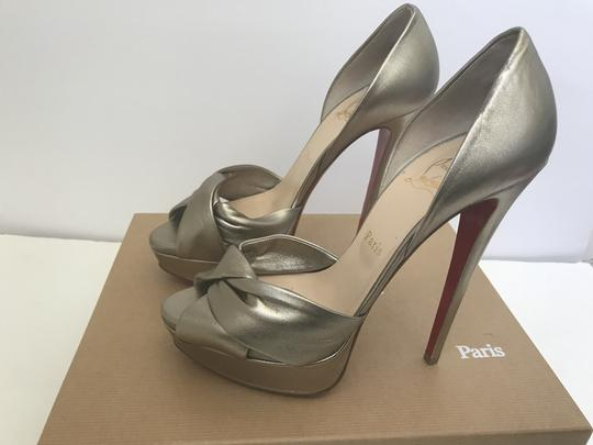 Christian Louboutin D'orsay D'orsay High Heel Silver/Metalic Sandals Image 4