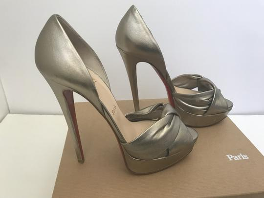 Christian Louboutin D'orsay D'orsay High Heel Silver/Metalic Sandals Image 5
