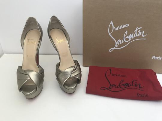 Christian Louboutin D'orsay D'orsay High Heel Silver/Metalic Sandals Image 6