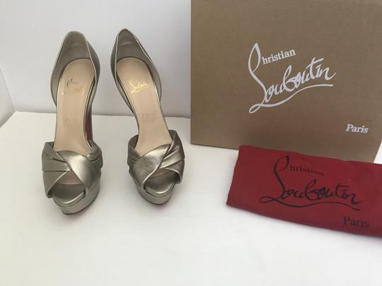 Christian Louboutin D'orsay D'orsay High Heel Silver/Metalic Sandals Image 7