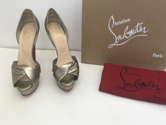 Christian Louboutin D'orsay D'orsay High Heel Silver/Metalic Sandals Image 9