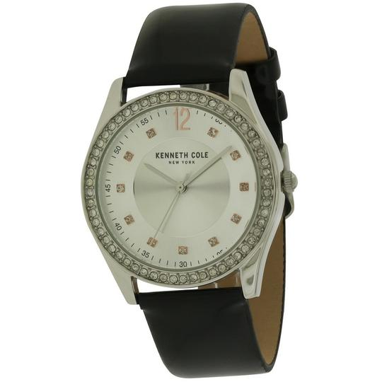Kenneth Cole 10031697 Women's Black Leather Band With Silver Analog Dial Image 1