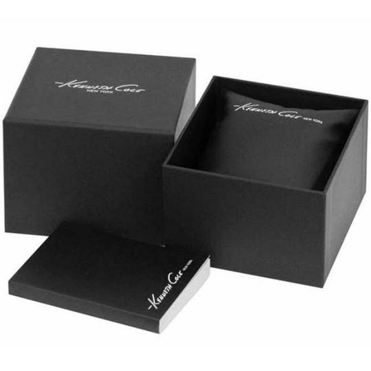Kenneth Cole 10031697 Women's Black Leather Band With Silver Analog Dial Image 2