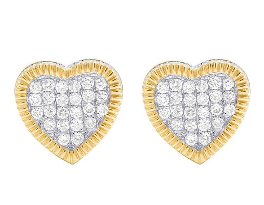 Preload https://img-static.tradesy.com/item/22178619/jewelry-unlimited-10k-yellow-gold-real-diamond-3d-heart-cluster-075-ct-10mm-earrings-0-0-540-540.jpg