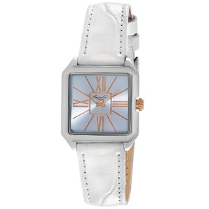 Kenneth Cole KC2848 Women's White Leather Band With Silver Analog Dial