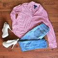 Charter Club Button Down Shirt red white Image 1