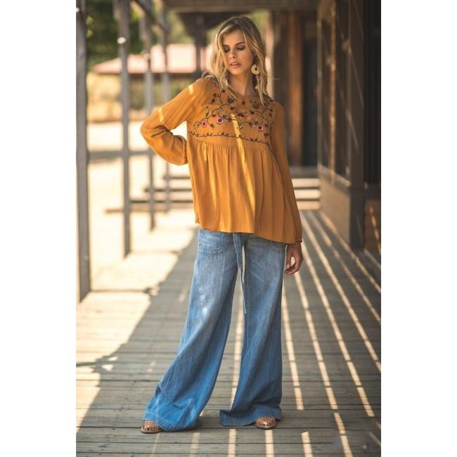 Jodifl Fall Trendy Embroidered Top Toffee Image 4