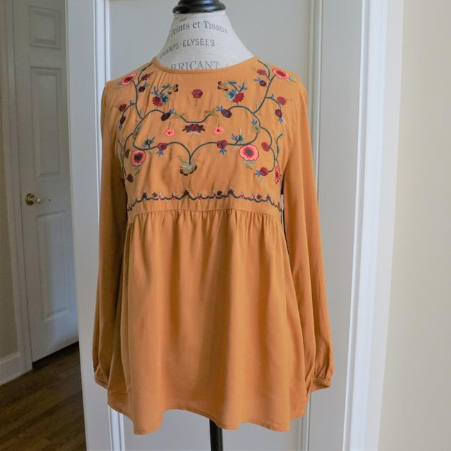 Jodifl Fall Trendy Embroidered Top Toffee Image 5