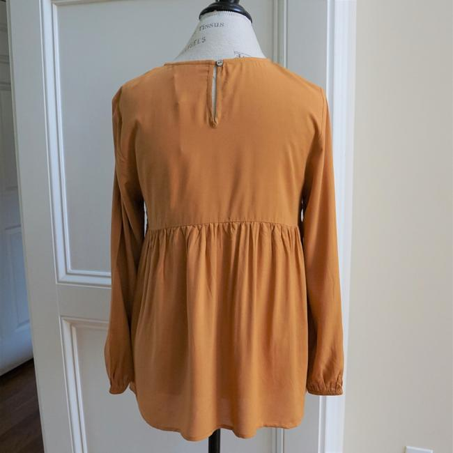Jodifl Fall Trendy Embroidered Top Toffee Image 6