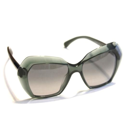 Chanel Chanel Sunglasses Oversized Green Acetate Unigue! Size 54MM Image 1